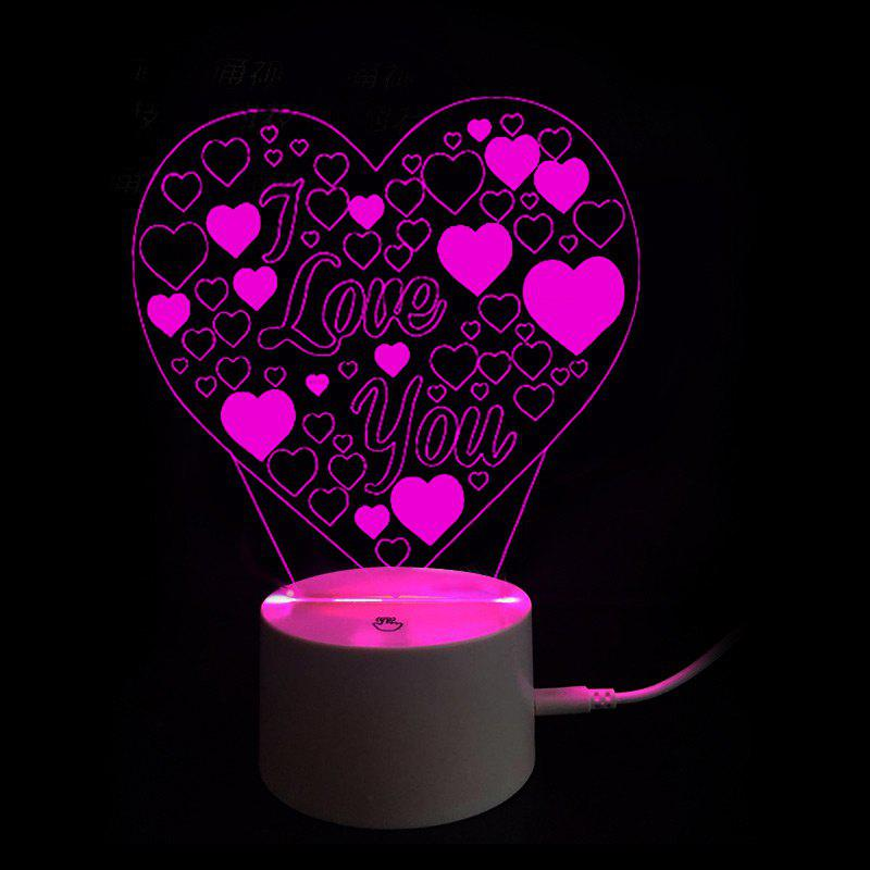 Mothers Day 9 Color Changing Valentine Gift Love You Letter Night Light valentine day gift 3d arrow through heart colorful touch night light