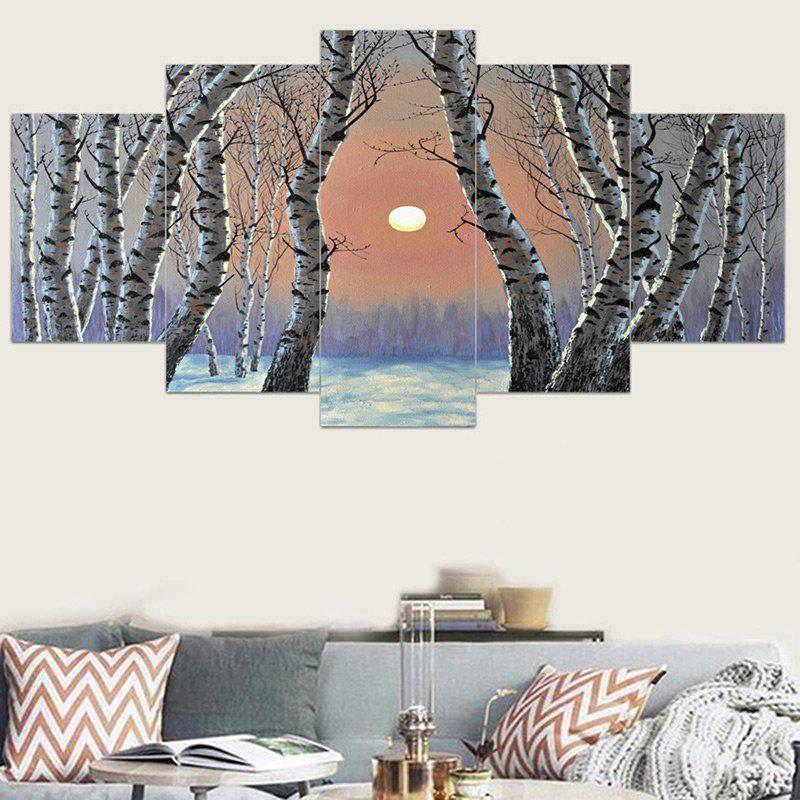 Morning Light Birch Forest Printed Wall Art Canvas Paintings horses printed unframed wall art canvas paintings