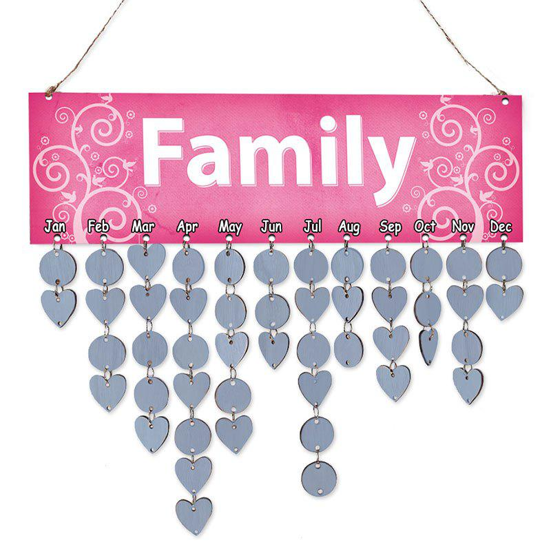 2018 diy wooden family calendar reminder board decor light blue in