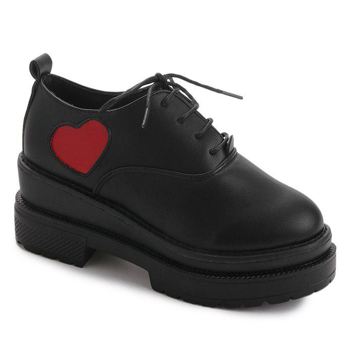 Mid Heel School Casual Shoes - BLACK 38