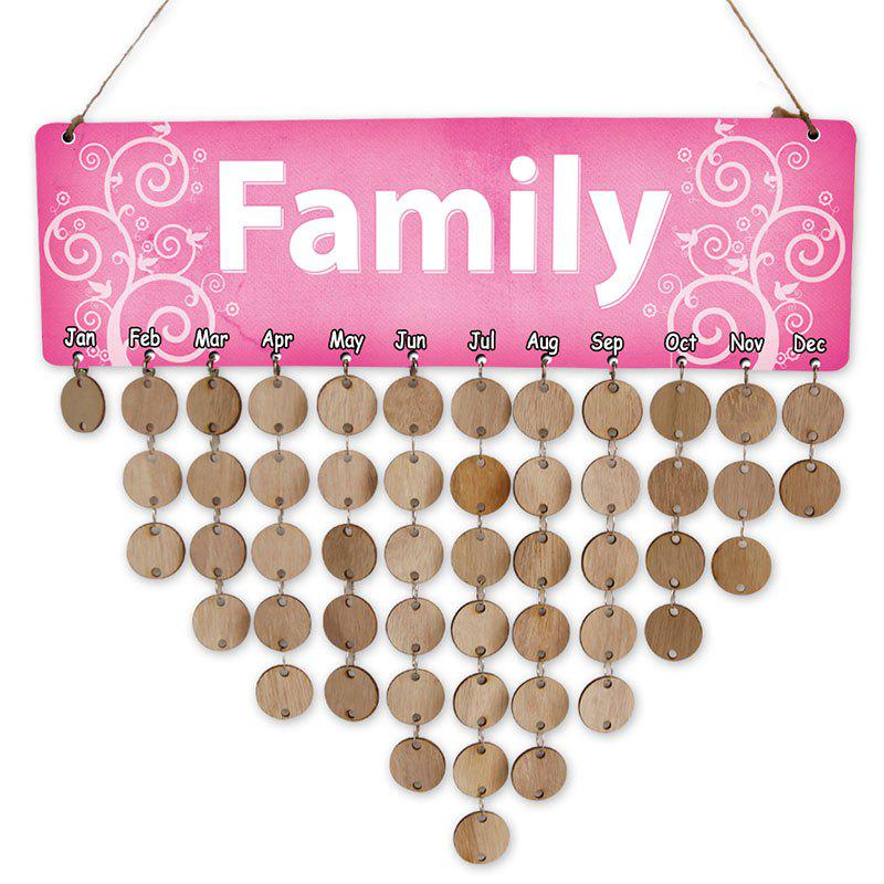 Wooden DIY Family Letter Calendar Reminder Board - WOOD