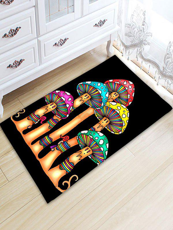 Cartoon Mushrooms Print Nonslip Flannel Bath Rug цена 2017