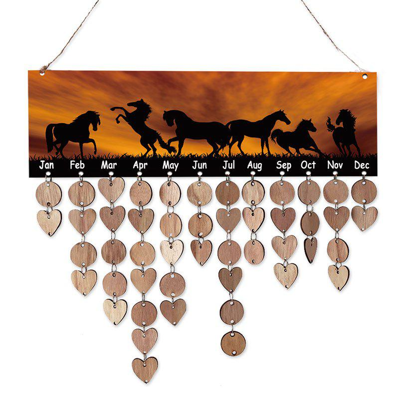 DIY Wooden Sunset Steed Calendar Reminder Board Decor - WOOD