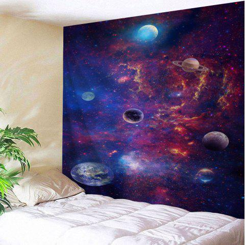 Galaxy Planets Print Tapestry Wall Hanging Art - COLORMIX W79 INCH * L71 INCH