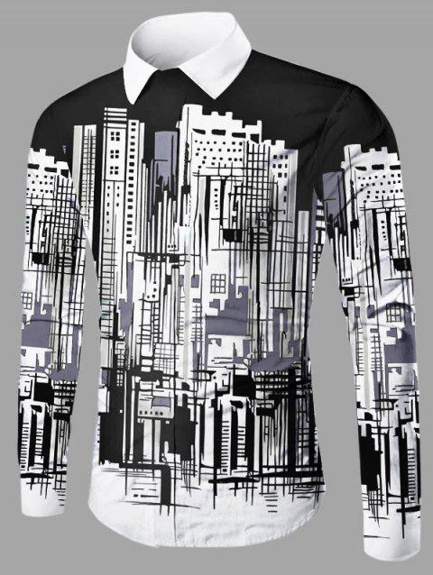 Building Graphic Shirt - WHITE/BLACK L
