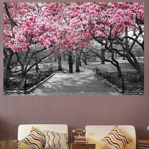 Peach Blossom Forest Print Home Decoration Wall Art Painting - PINK 1PC:12*18 INCH( NO FRAME )