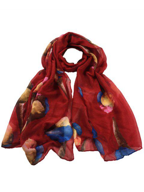 Funny Icecream Pattern Decorated Long Scarf - RED