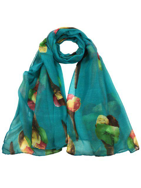 Funny Icecream Pattern Decorated Long Scarf - BLUE