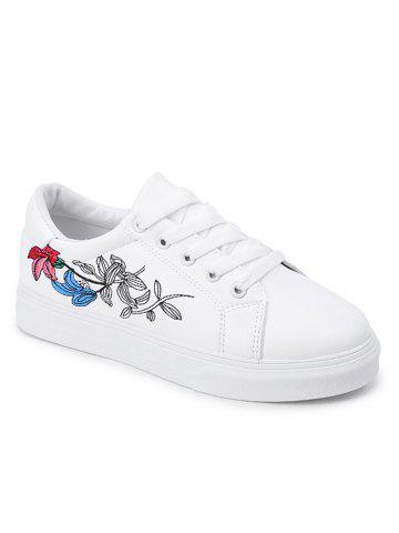 Casual Florals Embroidered Skate Shoes