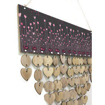 DIY Wooden Valentine's Day Love Pattern Hanging Calendar Board - WOOD