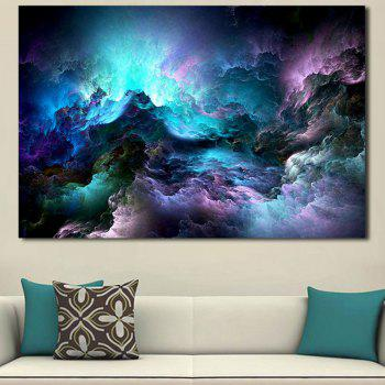 Starry Mountain Print Home Decor Wall Art Painting - COLORFUL COLORFUL