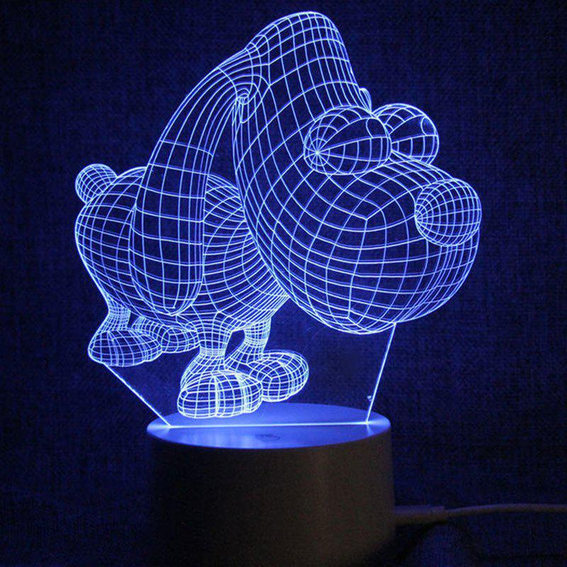 Puppy Shape Touch Color Change LED Night Light - TRANSPARENT