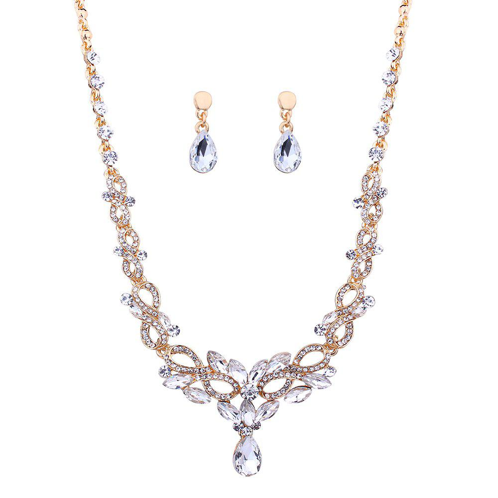 2018 faux diamond party jewelry hollow out necklace and. Black Bedroom Furniture Sets. Home Design Ideas