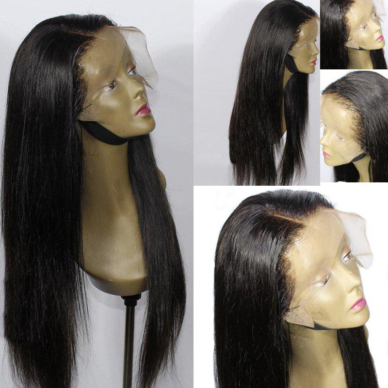 Lace Front Long Side Parting Straight Synthetic Wig long side parting straight colormix synthetic lace front wig