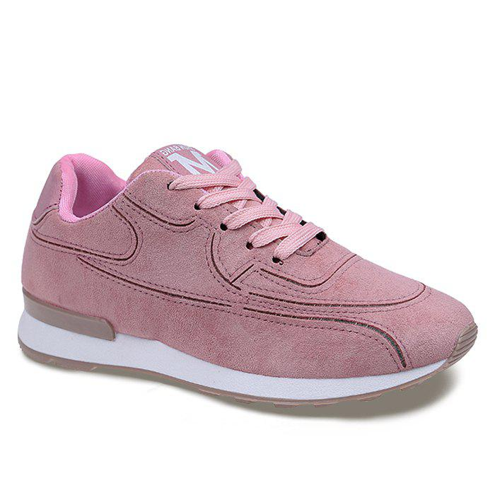 Stitching Breathable Sneakers - PINK 38