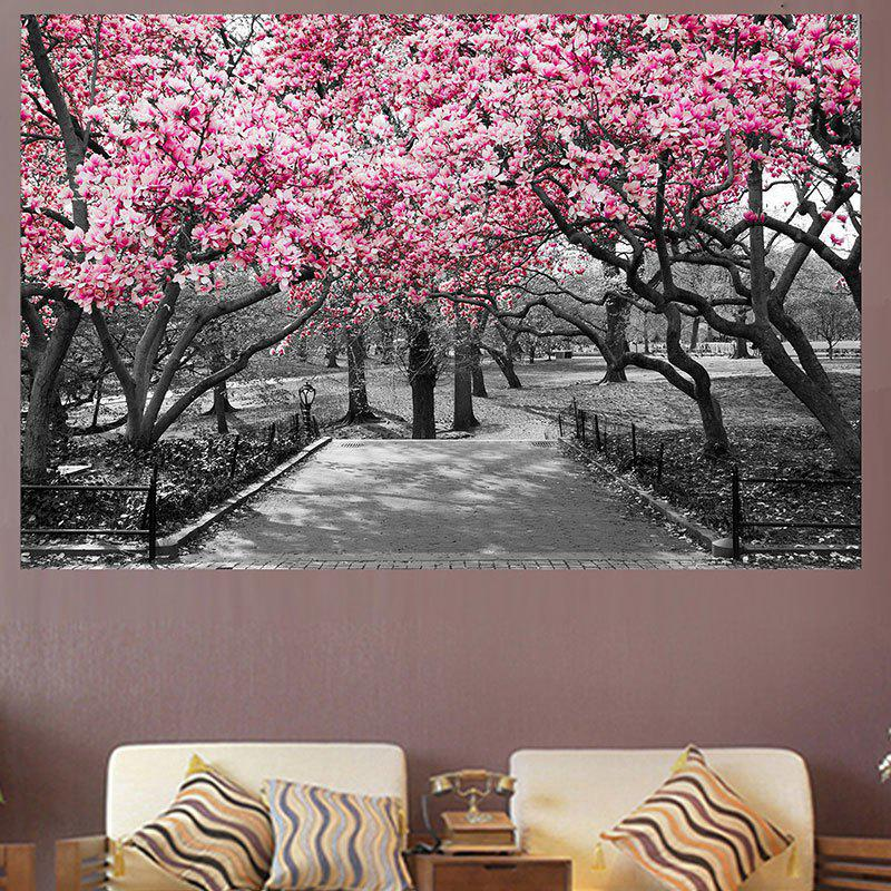 Peach Blossom Forest Print Home Decoration Wall Art Painting - PINK 1PC:20*29.5 INCH( NO FRAME )