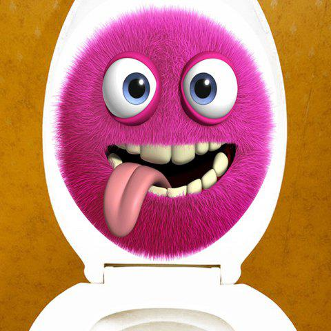Yumm Printed Bathroom Decor Toilet Sticker - PURPLE 12.6*15.4 INCH