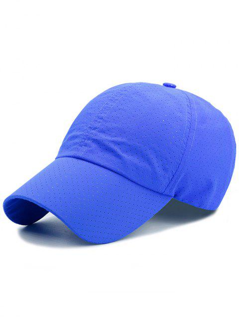 Outdoor Solid Color Pattern Breathable Baseball Cap - ROYAL