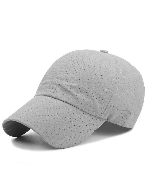 Outdoor Solid Color Pattern Breathable Baseball Cap - LIGHT GRAY