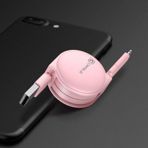 Retractable USB Cable for Android Iphone - PINK