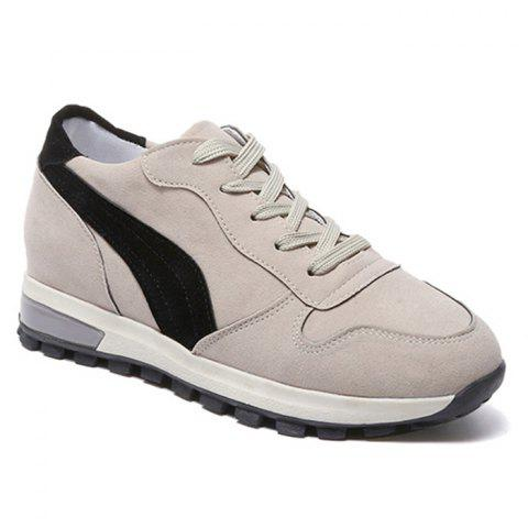 Stitching Color Block Chaussures à lacets - Beige 38