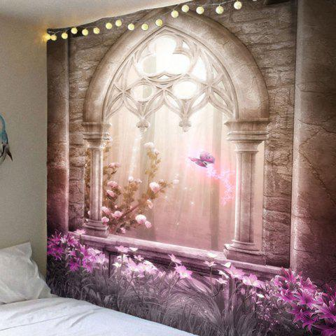 Magical Castle Flower House Print Tapestry - COLORFUL W59 INCH * L59 INCH