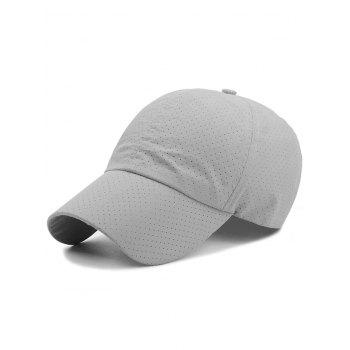 Outdoor Solid Color Pattern Breathable Baseball Cap - LIGHT GRAY LIGHT GRAY