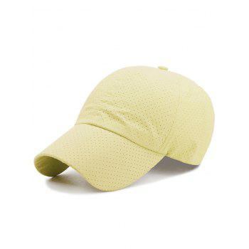 Outdoor Solid Color Pattern Breathable Baseball Cap - LIGHT YELLOW LIGHT YELLOW