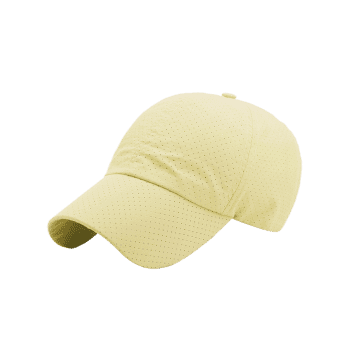 Outdoor Solid Color Pattern Breathable Baseball Cap -  LIGHT YELLOW