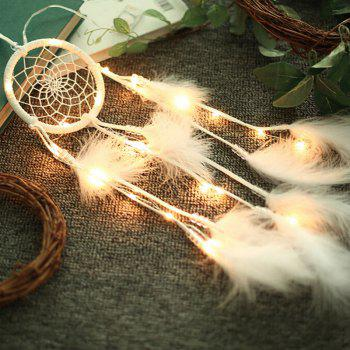 Valentine's Day Gift Decorations Lights String Dream Catcher - WHITE