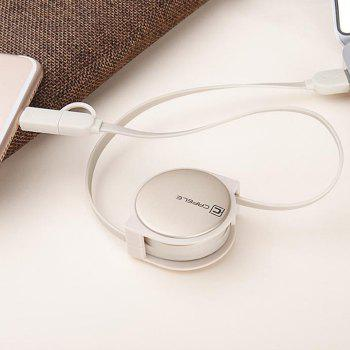 Retractable USB Cable for Android Iphone - LUXURY GOLD COLOR