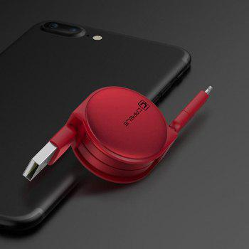 Retractable USB Cable for Android Iphone - RED RED