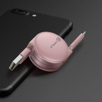 Retractable USB Cable for Android Iphone - ROSE GOLD ROSE GOLD