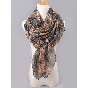 Funny Mosaic Tile Pattern Long Scarf - BLACK/GRAY
