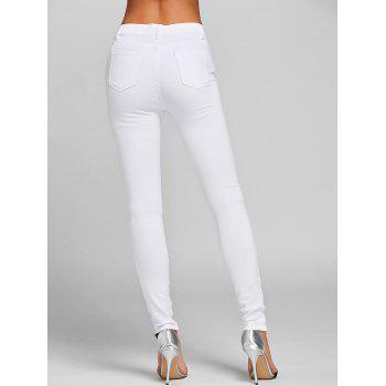 Ripped Jeans with Pockets - WHITE 2XL