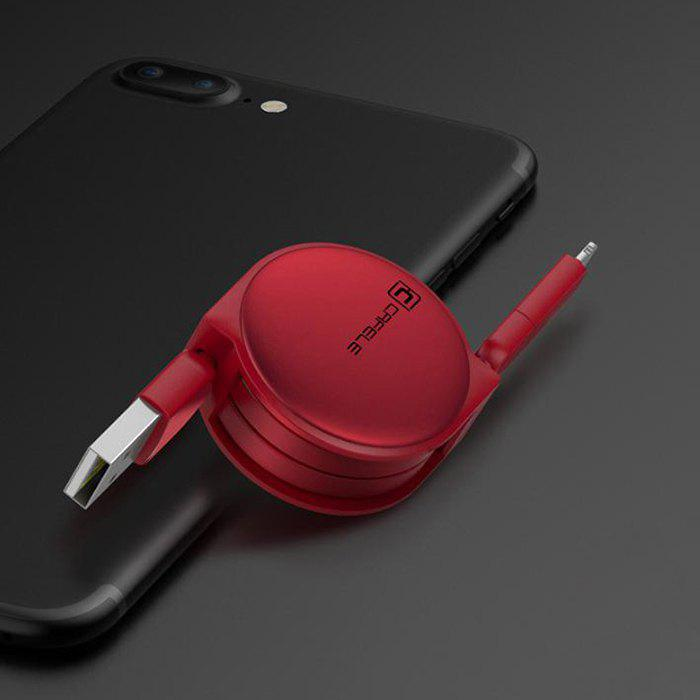 Retractable USB Cable for Android Iphone - RED