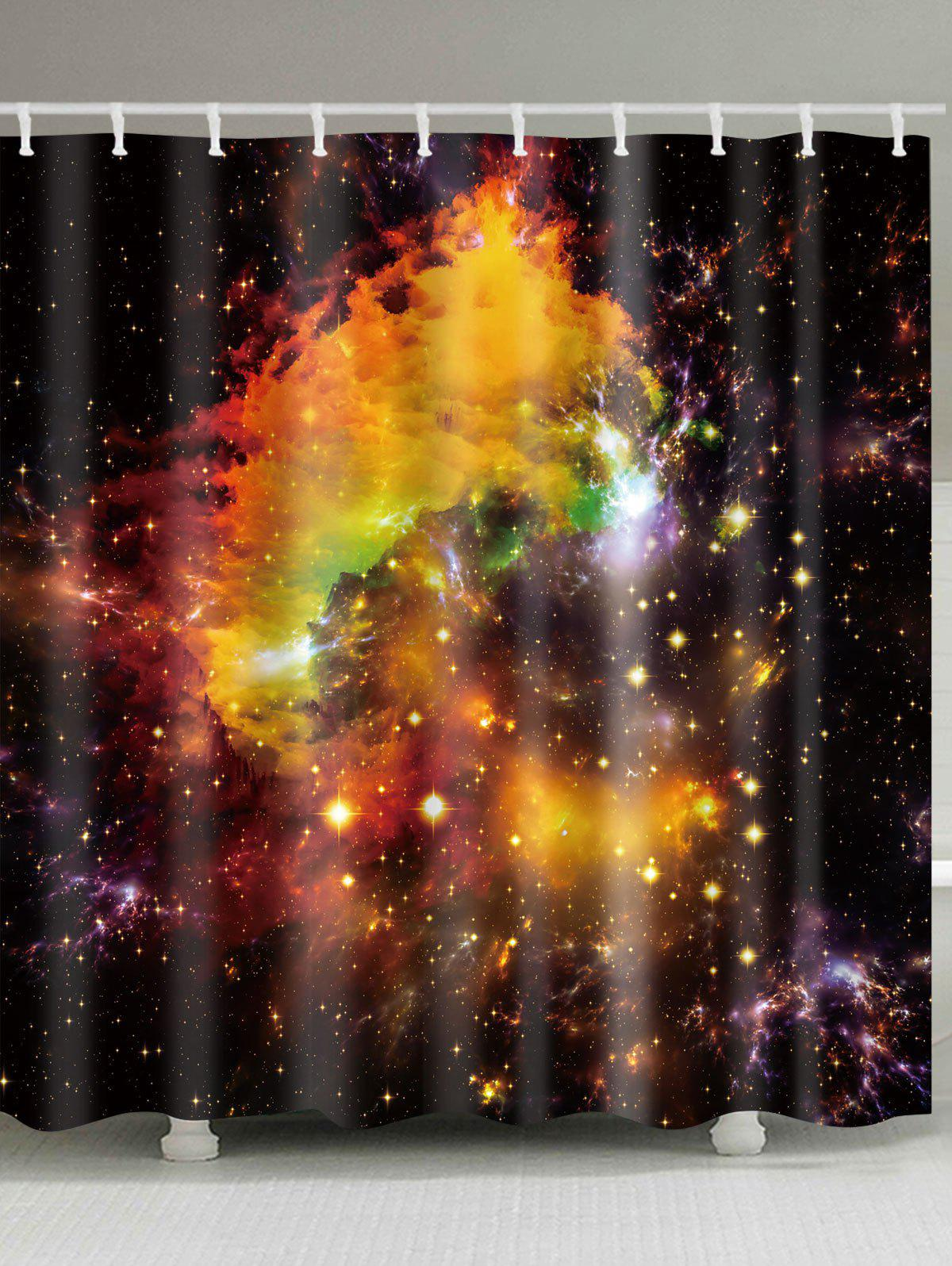 Galaxy Shower Curtain Outer Space Nebula View Print for Bathroom