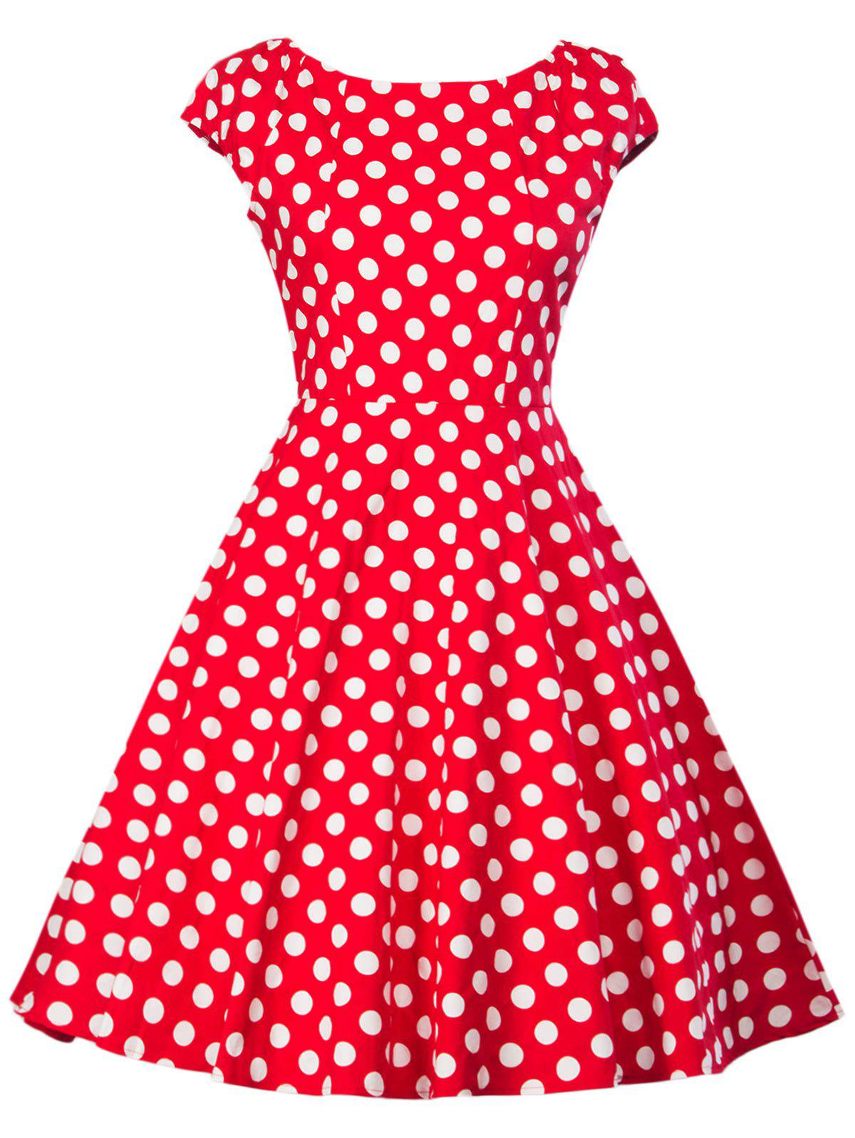 Retro Polka Dot Flare Dress hybrid nested partitions method for wta problem