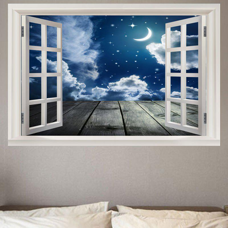 Decorative Starry Moon Night Printed Wall Sticker hexagon night glow decorative wall sticker
