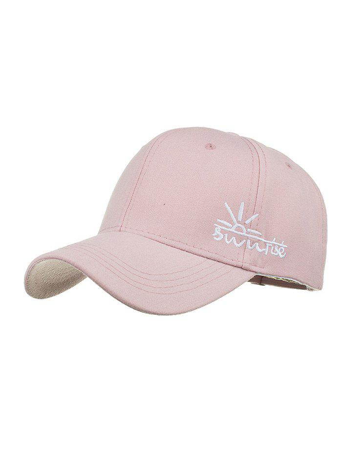 Sunrise Embroidered Baseball Hat - PINK