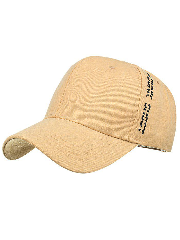 Letter Embroidered Side Baseball Hat - YELLOW