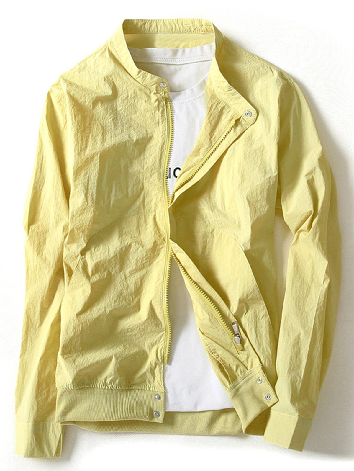 Zip Up Lightweight Jacket - GINGER 4XL