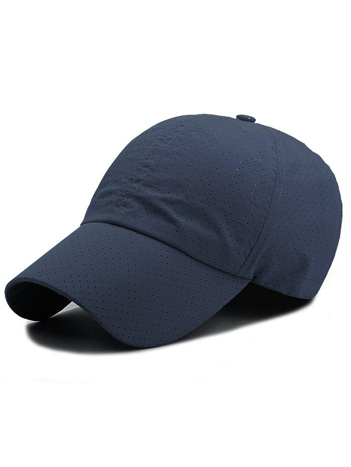 Outdoor Solid Color Pattern Breathable Baseball Cap - CADETBLUE