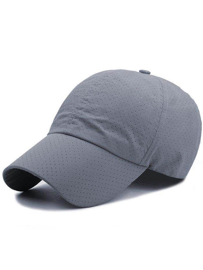 Outdoor Solid Color Pattern Breathable Baseball Cap - DEEP GRAY