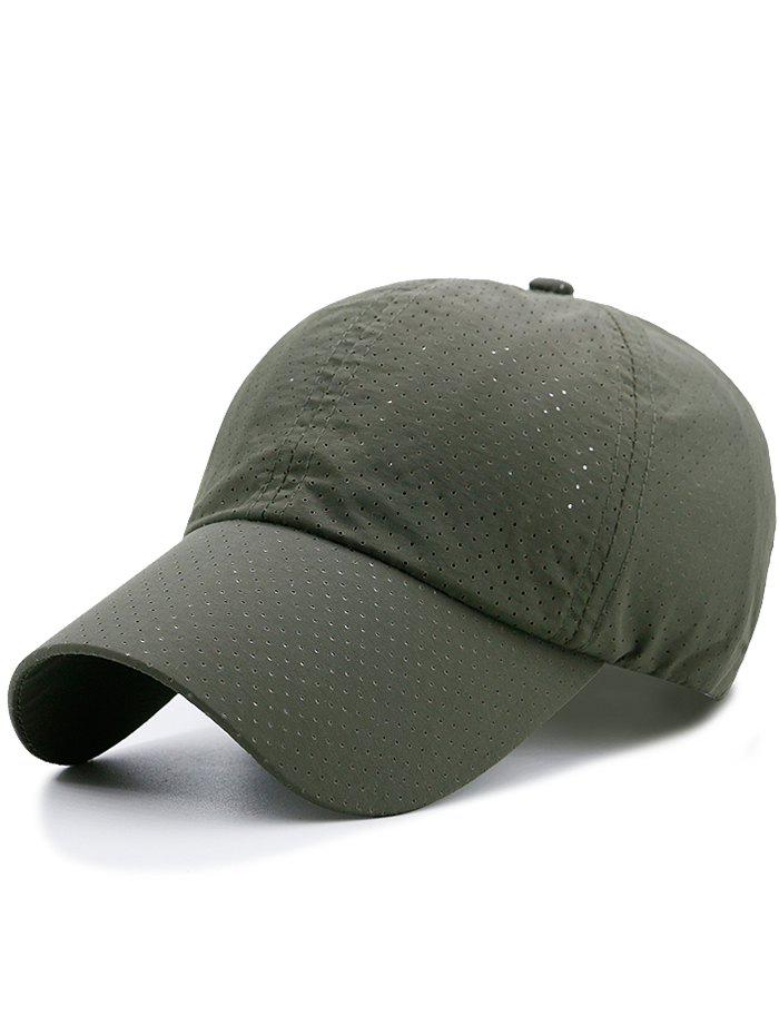 Outdoor Solid Color Pattern Breathable Baseball Cap - ARMY GREEN
