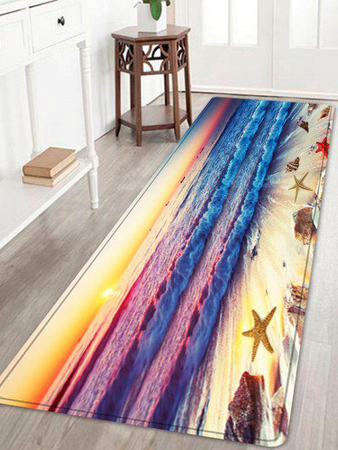 Beach Sunset Pattern Floor Area Rug - COLORMIX W24 INCH * L71 INCH