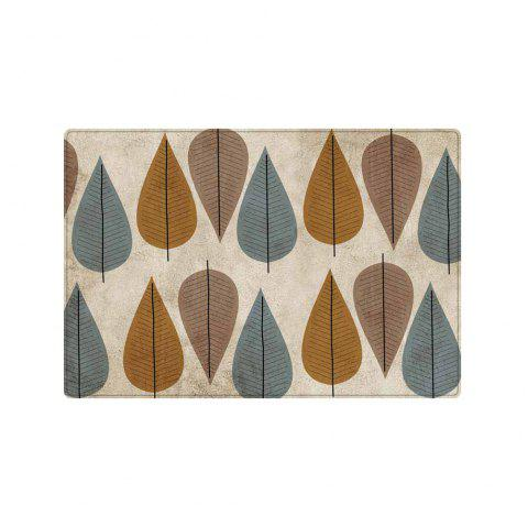 Leaf Pattern Anti-skid Water Absorption Area Rug - COLORMIX W20 INCH * L31.5 INCH