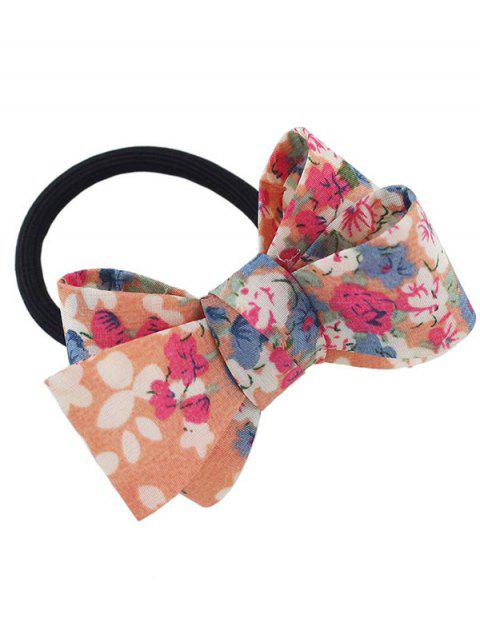 Floral Bowknot Decorated Elastic Hair Band - ORANGE