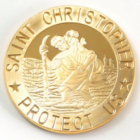 Cross Saint Christopher Protect Us Commemorative Collector's Coin - GOLDEN 40*40*3MM