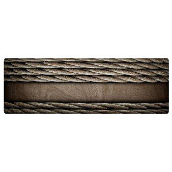 Woodgrain Ropes Pattern Floor Area Rug - TAUPE W24 INCH * L71 INCH